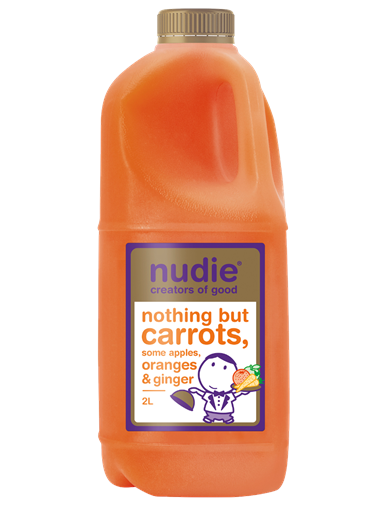 2 Ltr Nudie Carrot & Ginger Juice