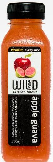 350ml (12) Apple & Guava Juice - Wild One