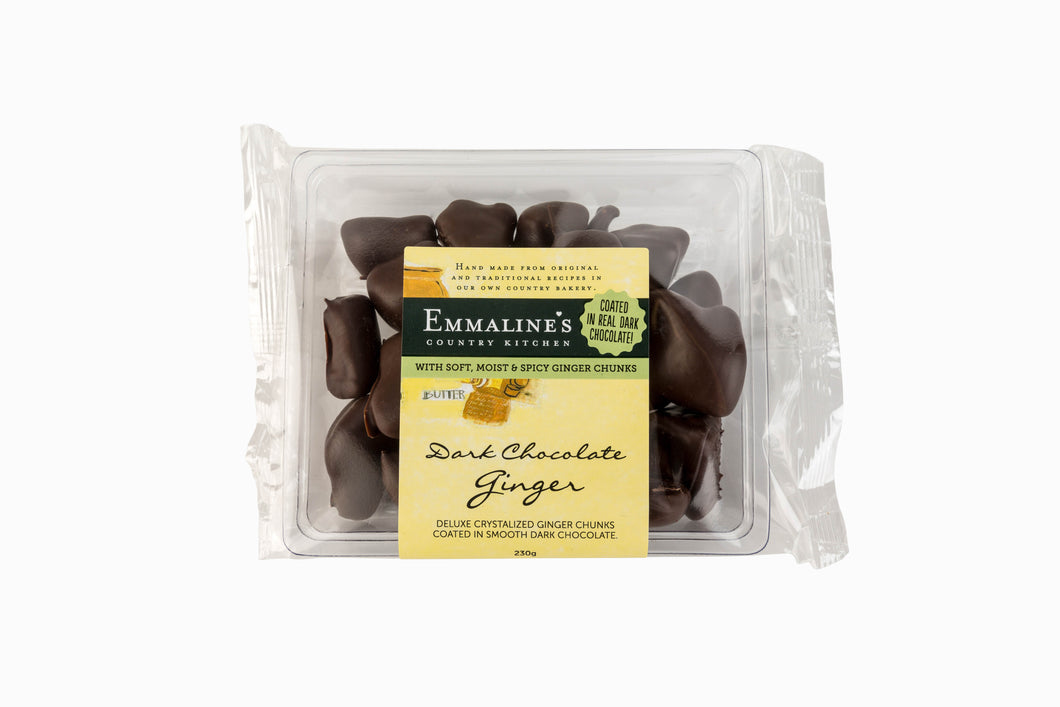 230gm Emmalines Dark Chocolate Coated Ginger