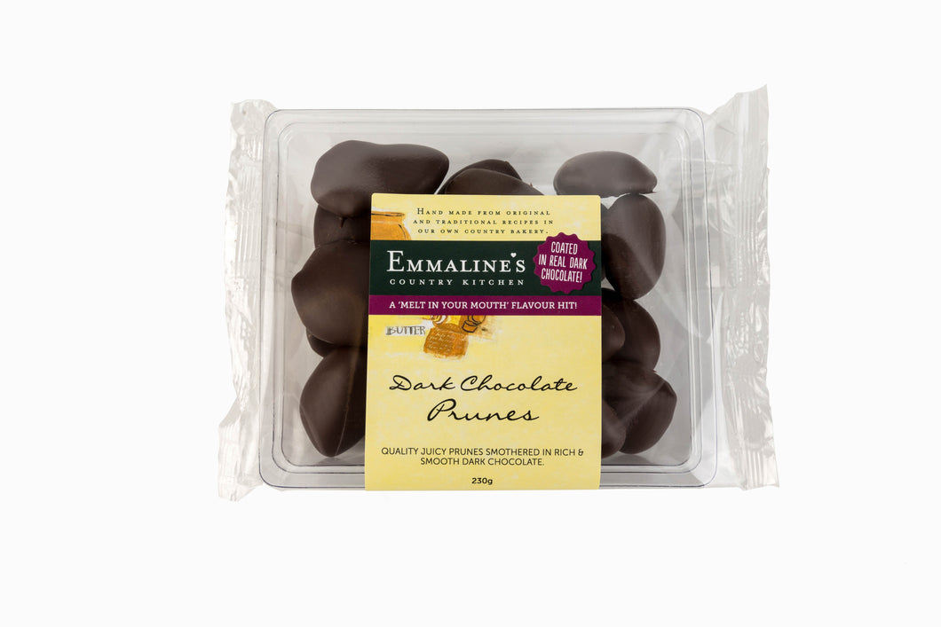 230gm Emmalines Dark Chocolate Coated Prunes