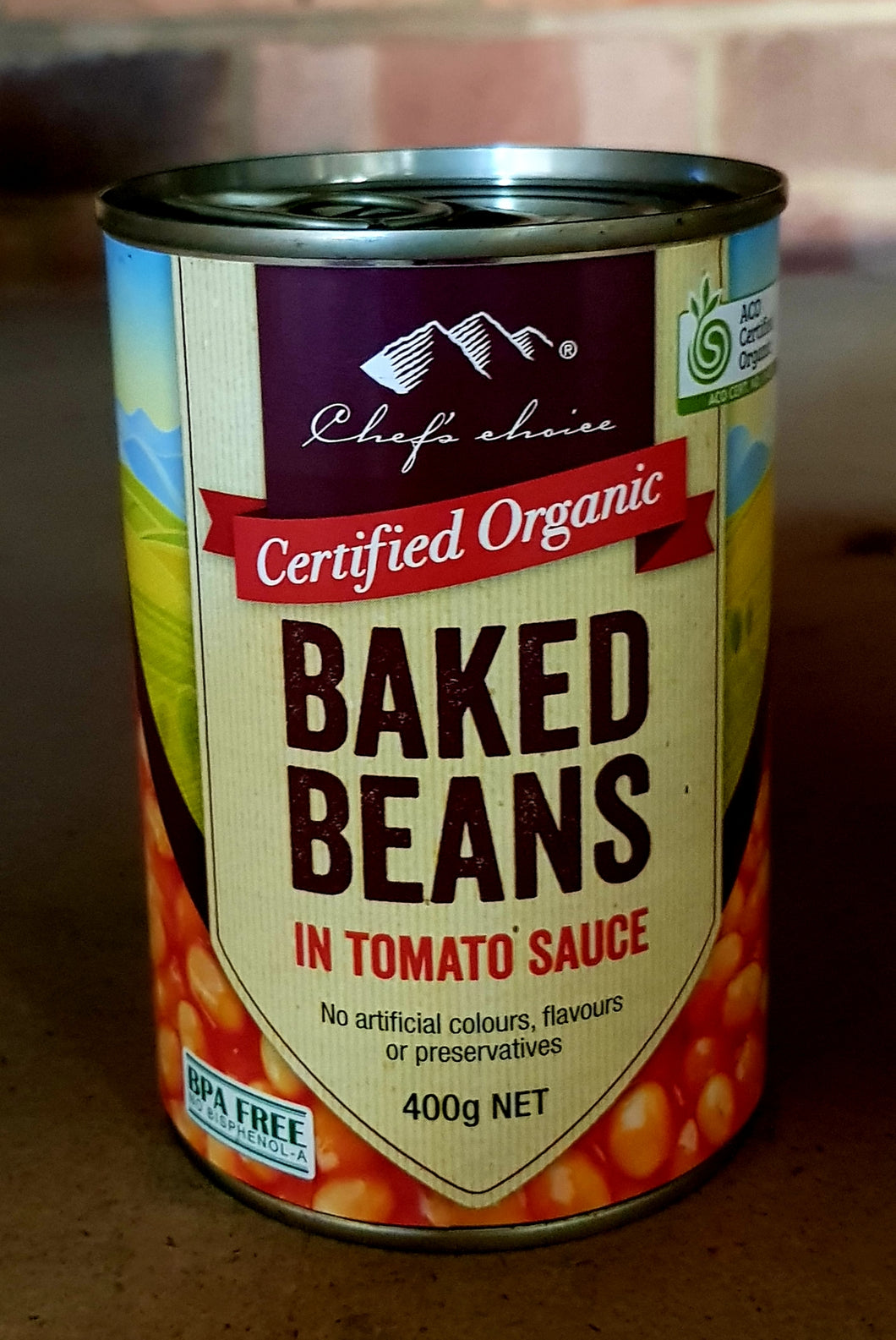 3x400gm ORGANIC Baked Beans in Tomato Sc.