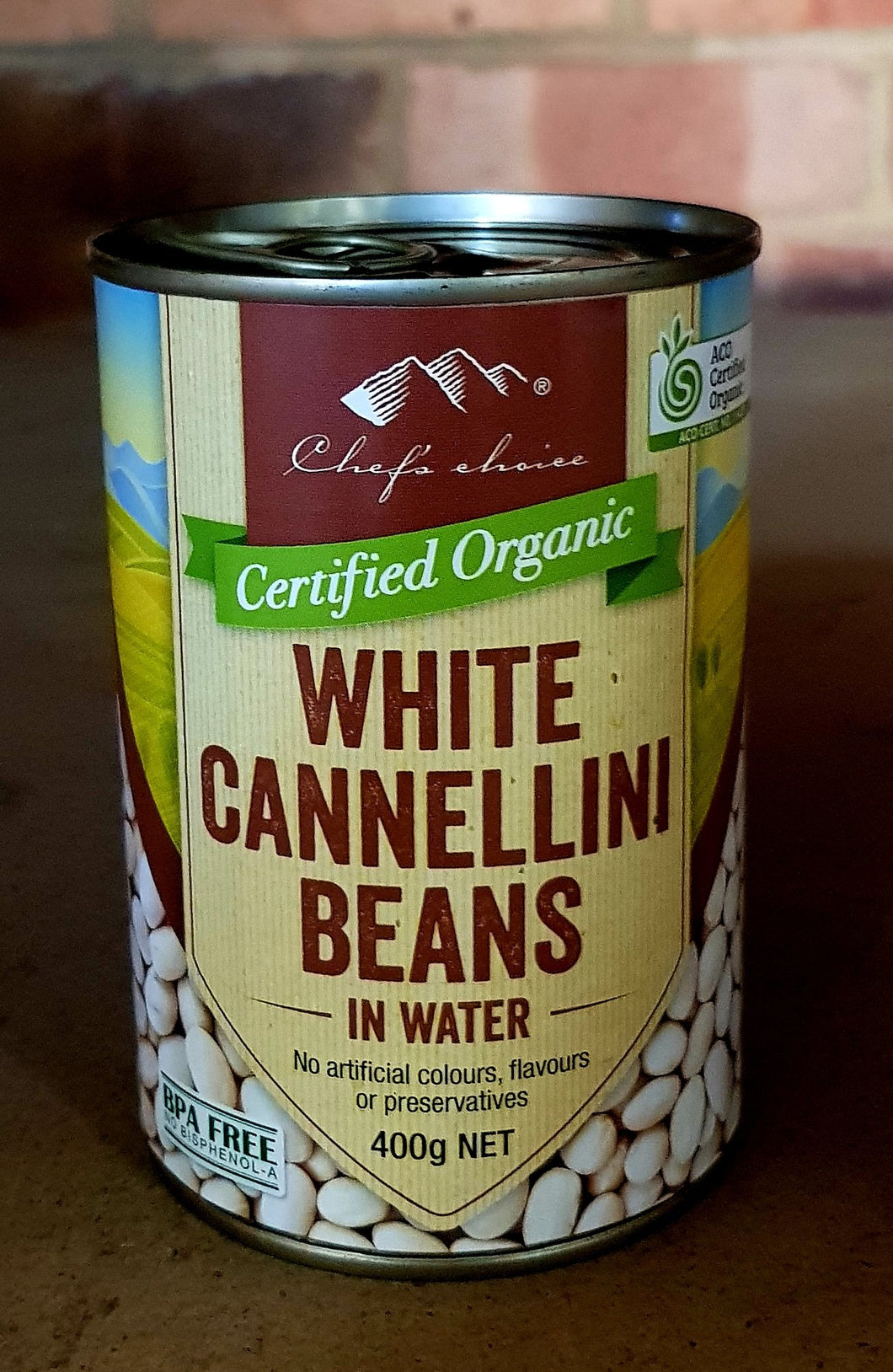 3x400gm organic white cannellini bean in water