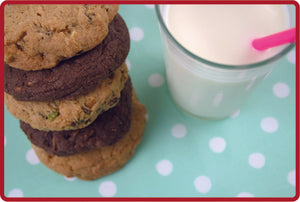 Milk Chocolate & Hazelnut Cookies - Cafe Size 10