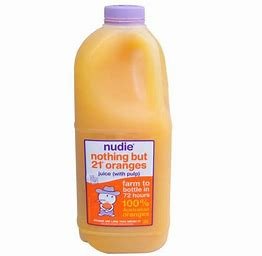 2 Ltr Nudie Nothing But 21 Oranges Juice