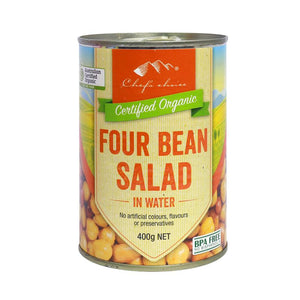 3x400gm organic 4 bean salad in water