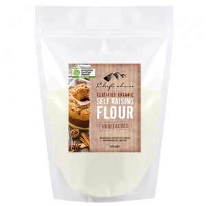 500gm ORGANIC unbleached Self Raising Flour