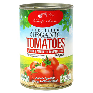 3x400gm ORGANIC Whole PEELED Tomato