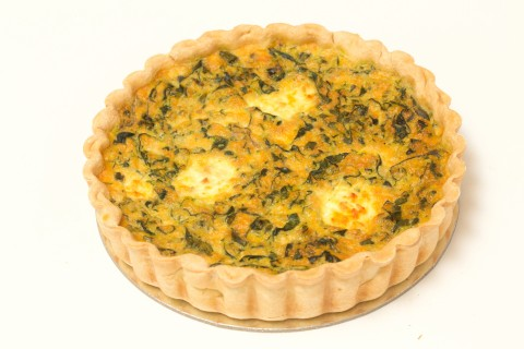 LARGE Spinach and Ricotta Quiche 8