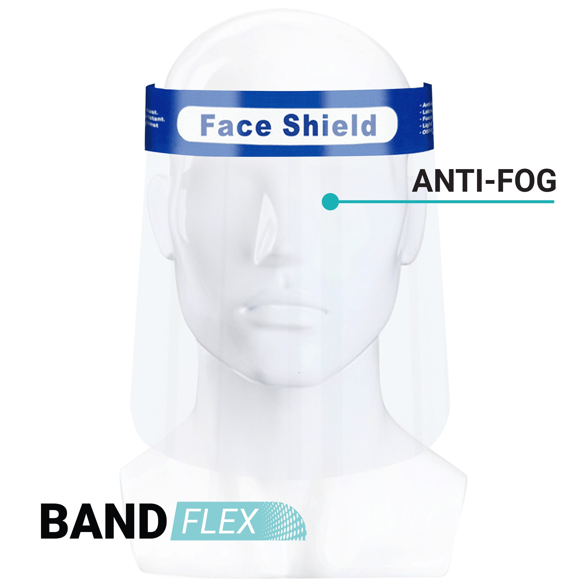 PROTECTIVE FACE SHIELD / VISORS CASE OF 10