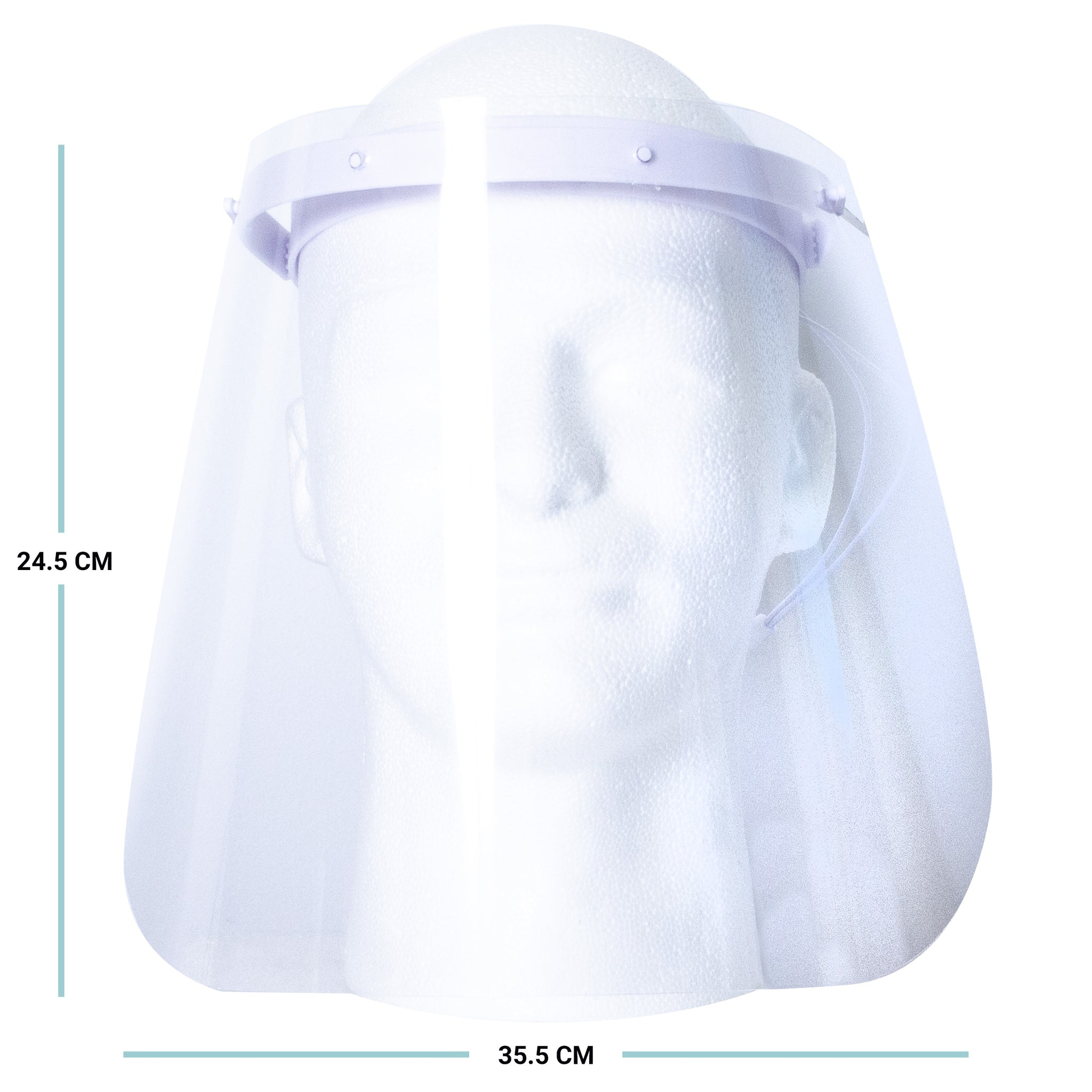 10 Adjustable Protective Face Shield Large Medium Bundle 2 Colors