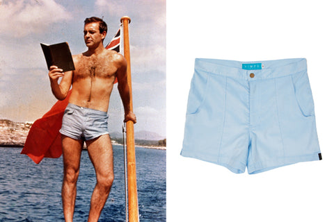 James Bond in Mens Vintage/ Retro Beach Shorts