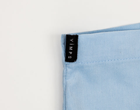 Close Up of Men's Short Shorts - Info for Yimps Packaging