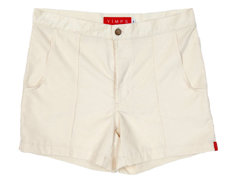 Ivory White Mens Retro Trunks
