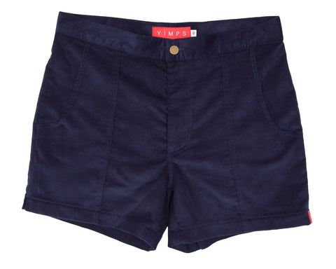 Navy Blue Mens Retro Trunks
