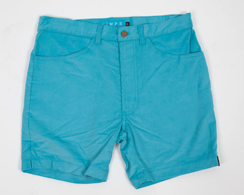 Peacock Blue Vintage Short Shorts