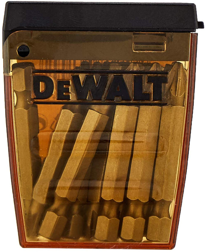 DeWalt Screwdriver Bits, Yellow/Black, 50 mm, Set of 15 Pieces