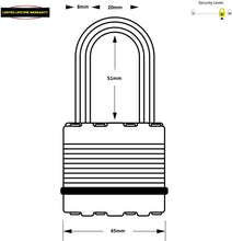 Load image into Gallery viewer, Master Lock Heavy Duty Padlocks with Laminated Steel - Pack of 3