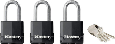 Master Lock Padlock, Excell Laminated Steel Padlock - Pack of 3