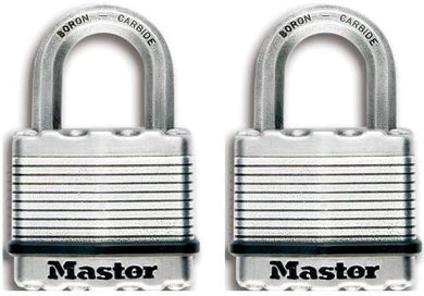 Master Lock Padlock, Resettable Combination Solid Body Padlock - Pack of 2