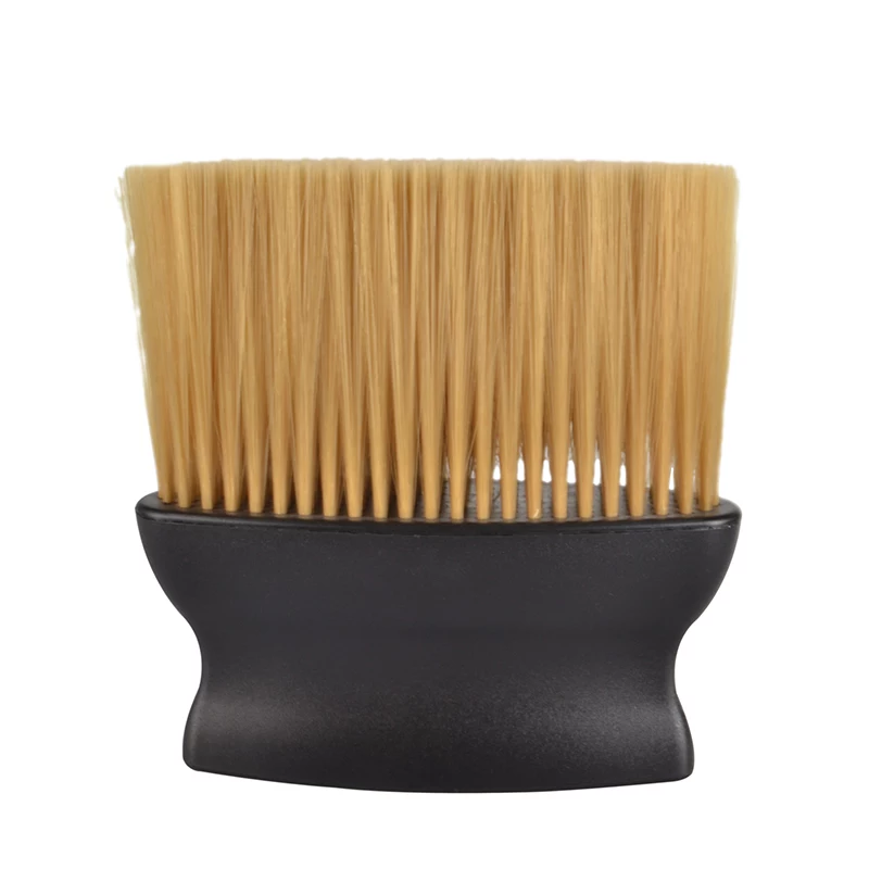 Brown Hairs Barber Neck Brush Nylon Synthetic hair