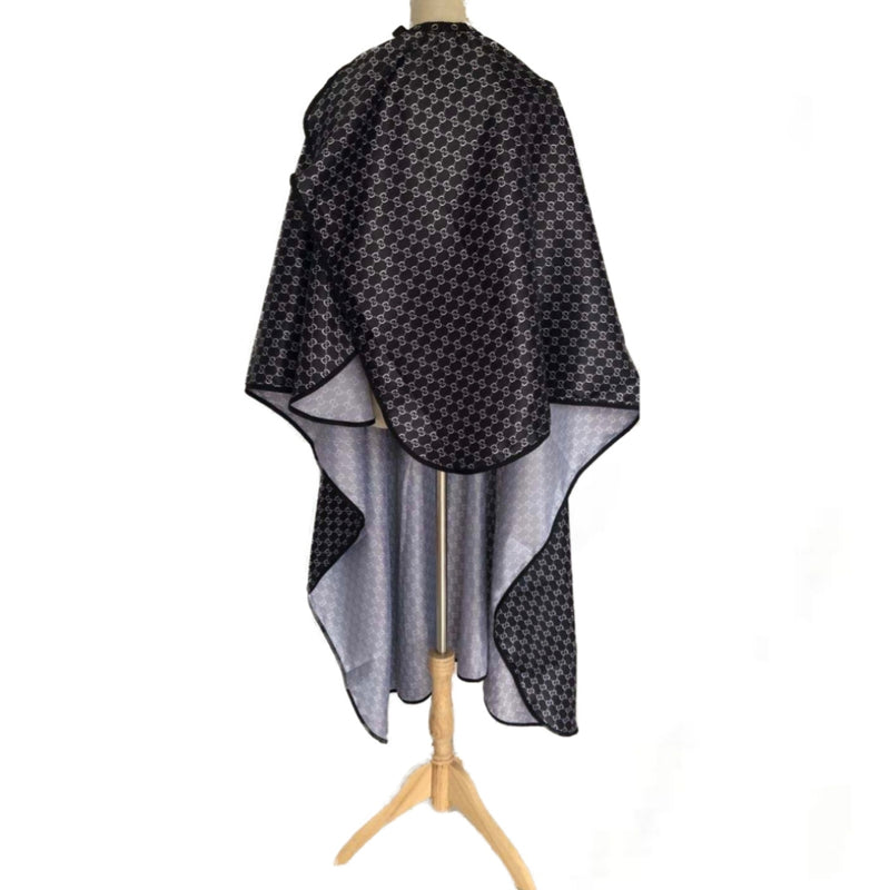 White & Black Gucci Hairdressing Cape