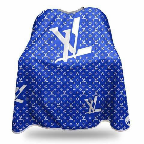 LV Blue & White Barber Hairdressing Cape