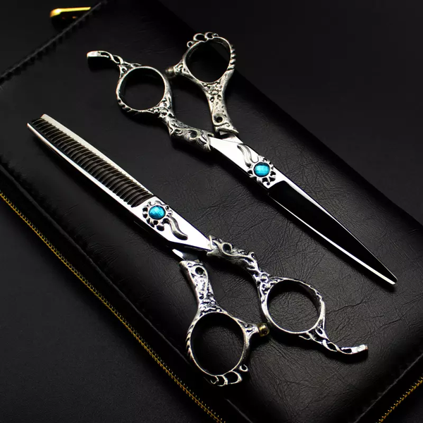 Blue Cystal Professional Hairdressing Scissors Set
