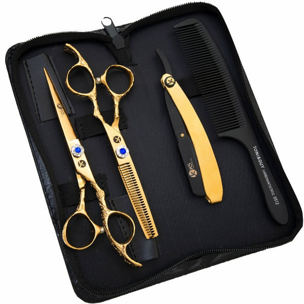 Gold Dragon Hairdressing Scissors Set