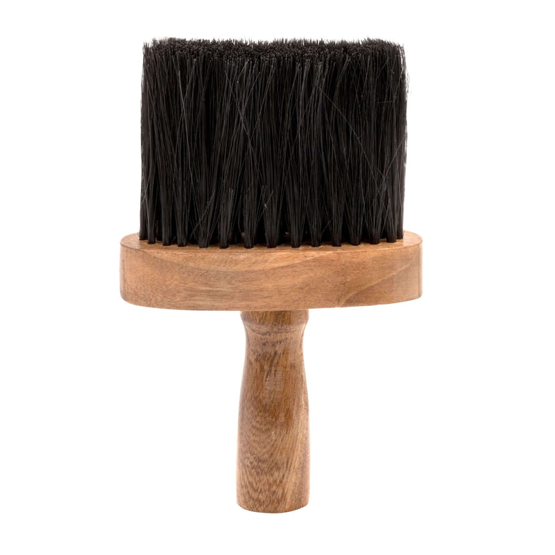 Barber Neck Brush With Wooden Handle