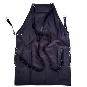 leather barber apron