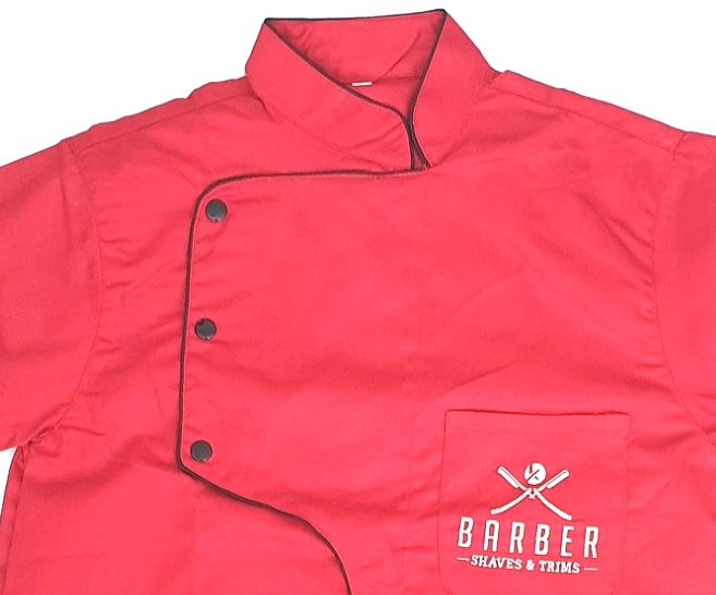 Professional Red Barber Shirt