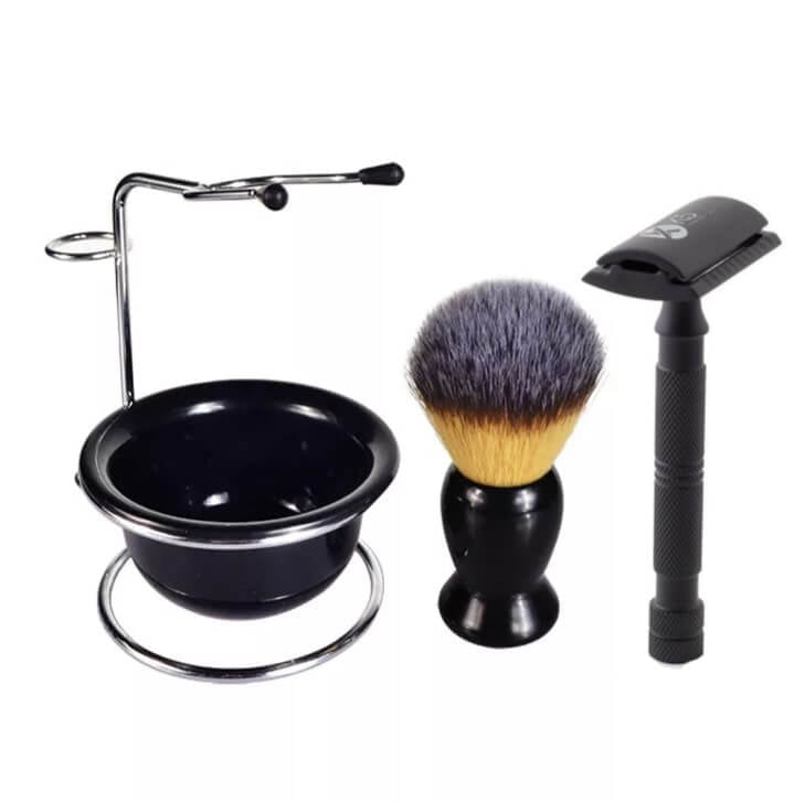 Safety razor With Shaving Brush