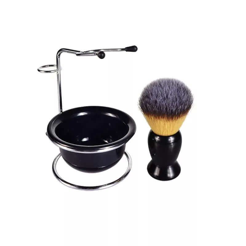 Mens Shaving Set Brush & Razor Safety with Stand