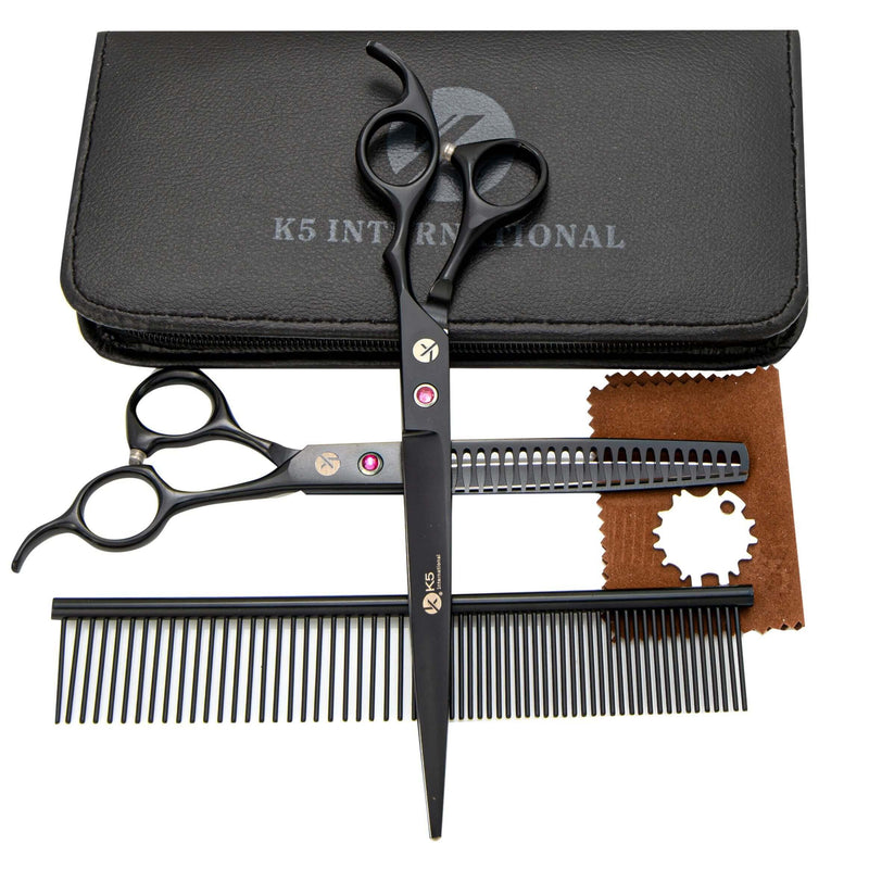 Pet Grooming Straight Scissors Set