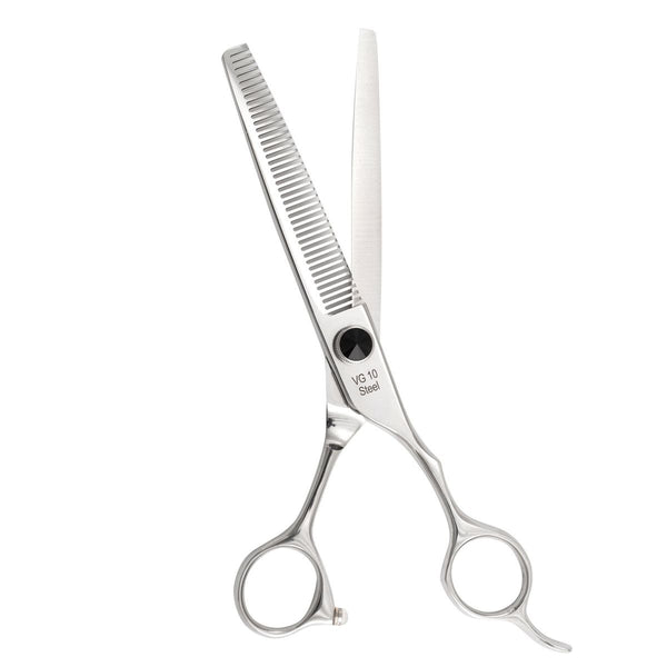 "Professional VG10 6.5"" Black Crystal Thinning Scissors"
