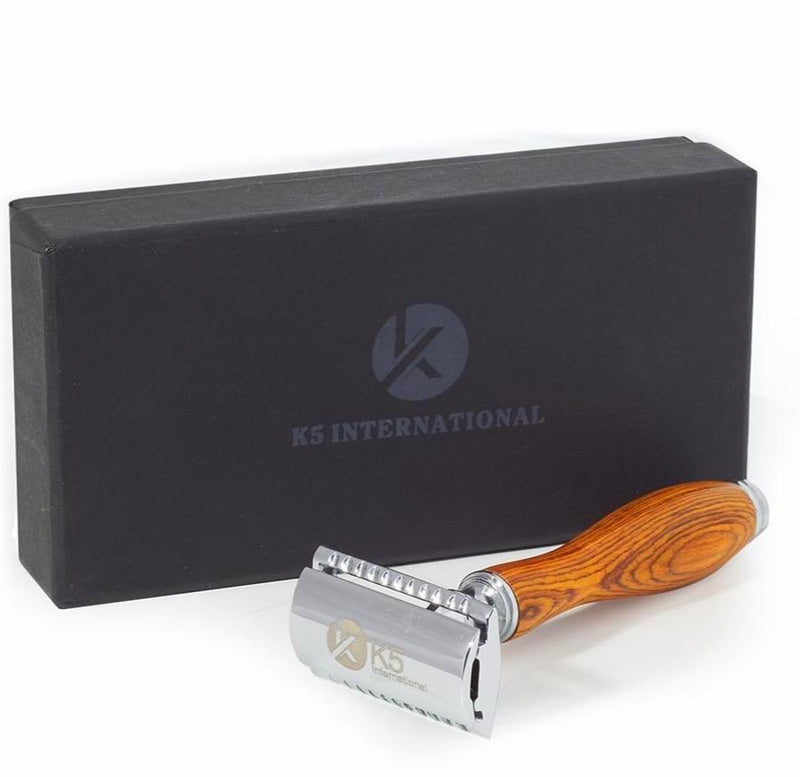 Safety Razor With Wooden Handle