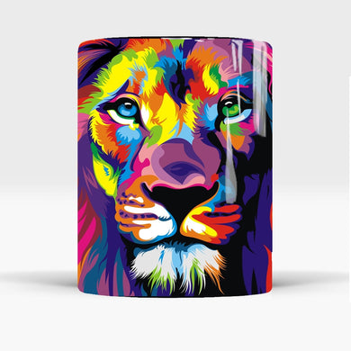 Mug magique lion multicolore | Mugs Passion