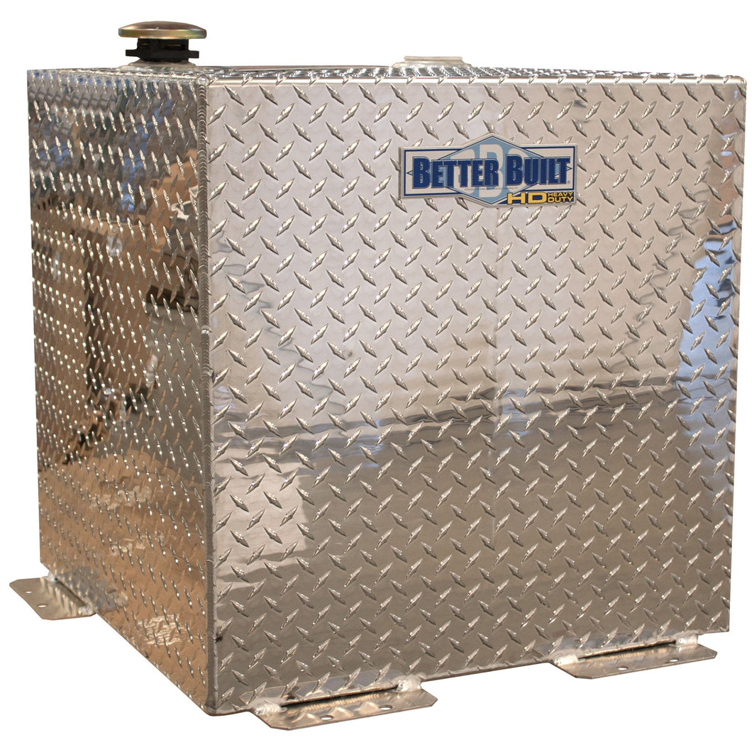 Better Built 37024152 Aluminum Transfer Tank, 50 Gallon, Square, Brite Aluminum