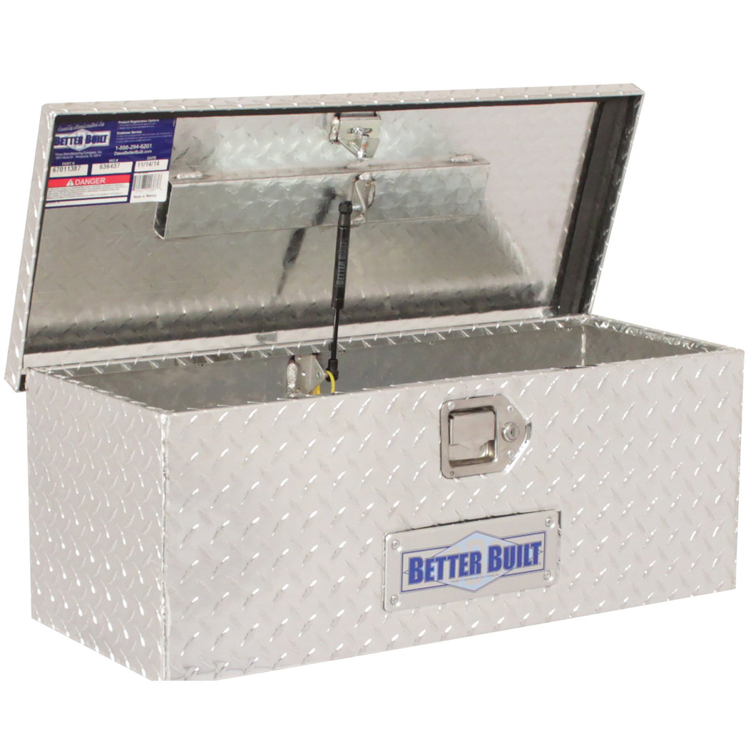 Better Built 67011387 30in ATV Truck Box, Brite Aluminum