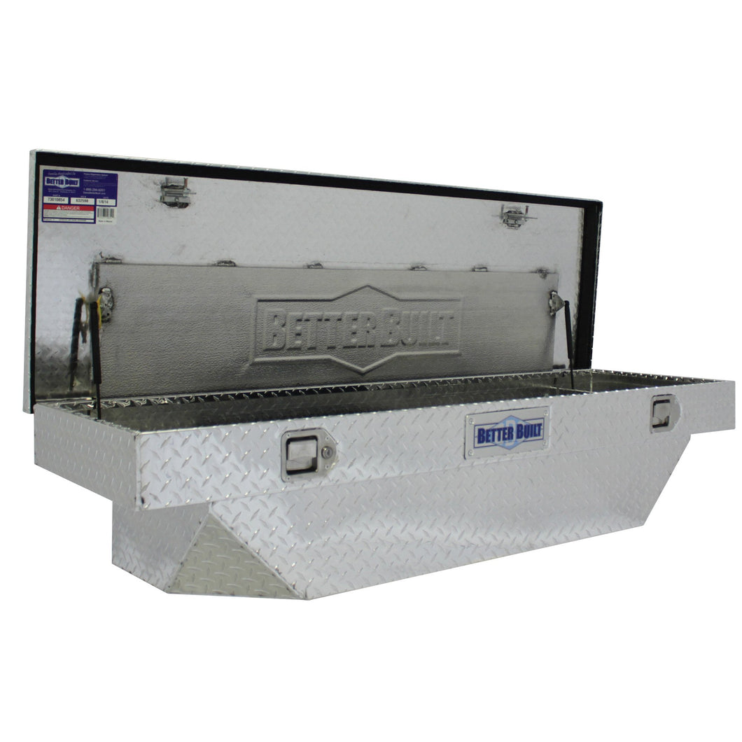 Better Built 73010854 61.5in Saddle Truck Box, Universal, Brite Aluminum