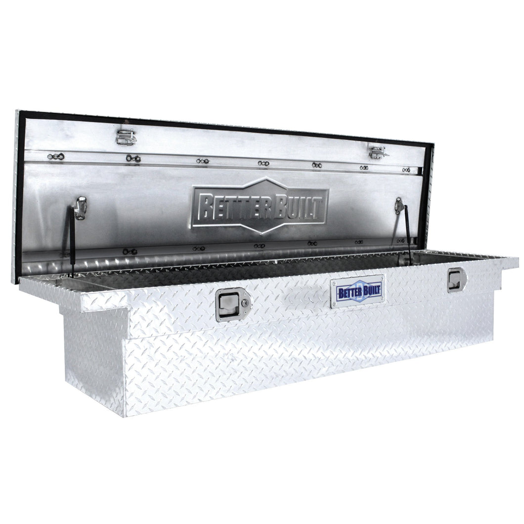 Better Built 73010912 61.5in Saddle Truck Box, Low-Profile, Brite Aluminum