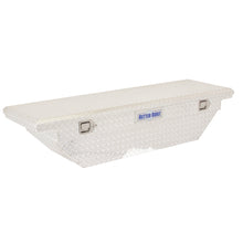 Load image into Gallery viewer, Model 73012123 69in Saddle Truck Box, Low-Profile, Wedge, Brite Aluminum