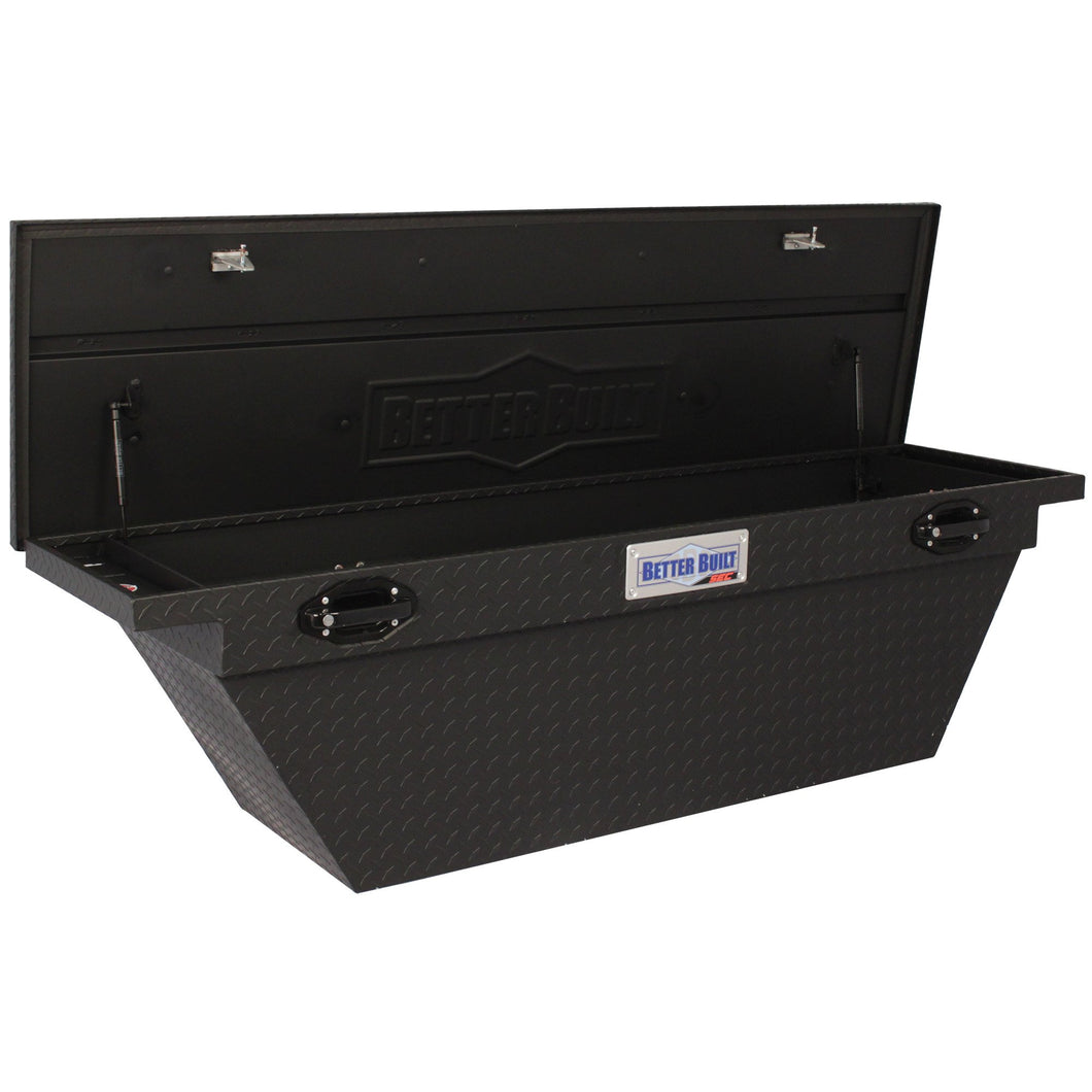 Better Built 79211106 71in Saddle Truck Box, Low-Profile, Deep, Wedge, Matte Black