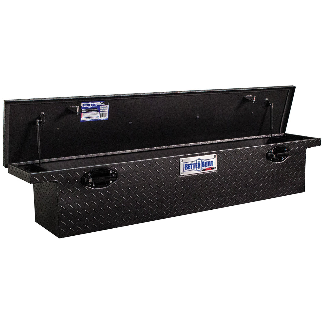Better Built 79212421 61.5in Saddle Truck Box, Low-Profile, Narrow, Matte Black