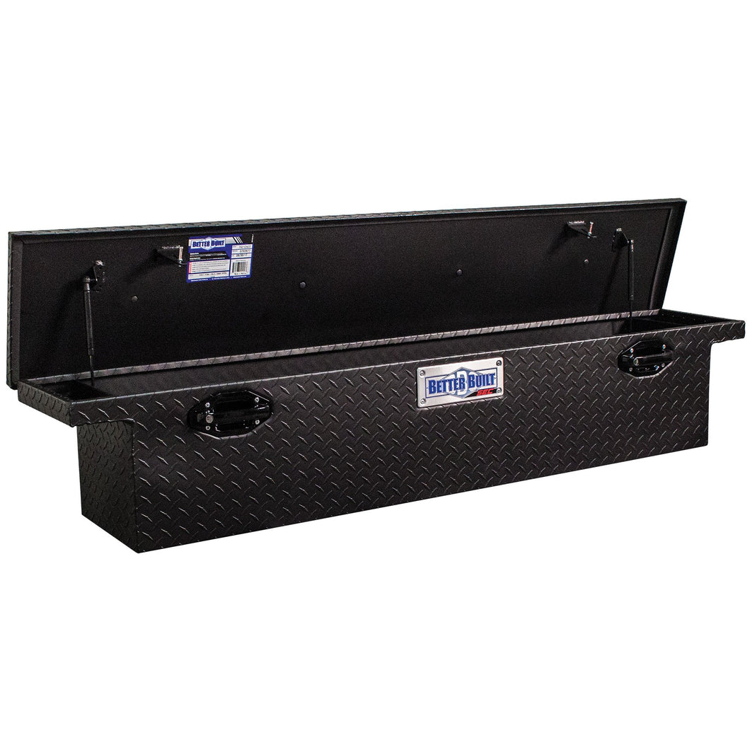 Better Built 79212423 71in Saddle Truck Box, Low-Profile, Narrow, Matte Black