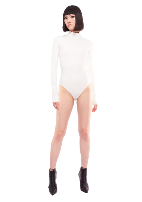 IVORY HIGH NECK LONG SLEEVE BODY