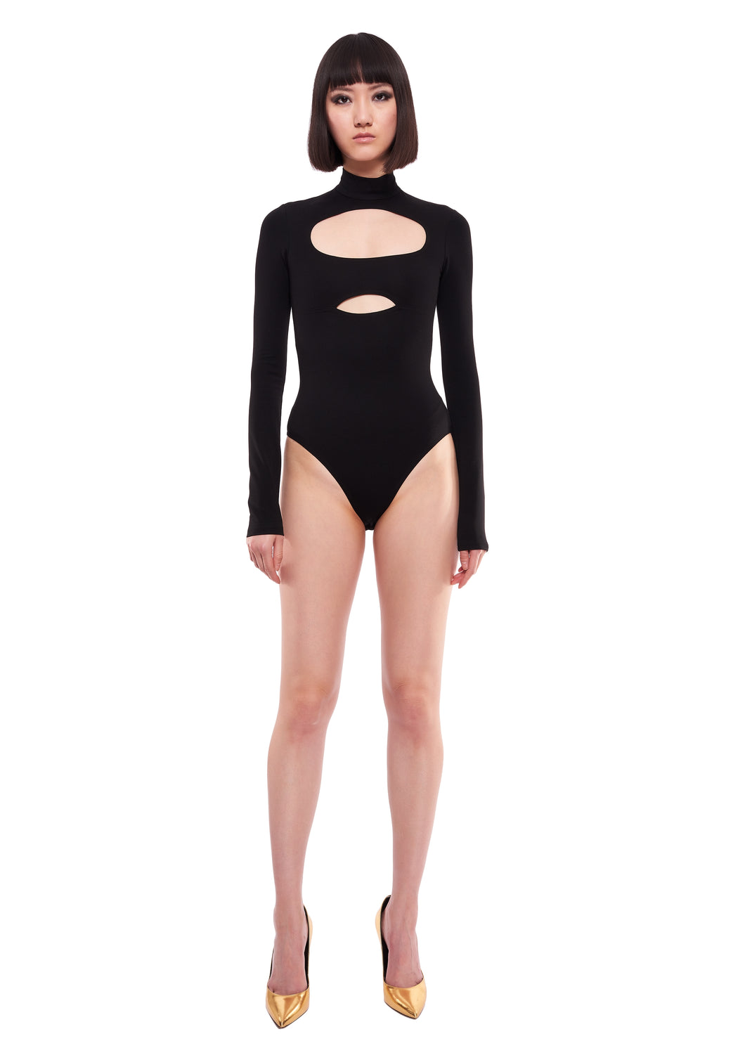 TURTLENECK CUT-OUT BLACK BODY