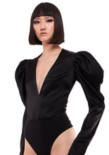 Load image into Gallery viewer, PUFF SLEEVE V NECK BODY SUIT