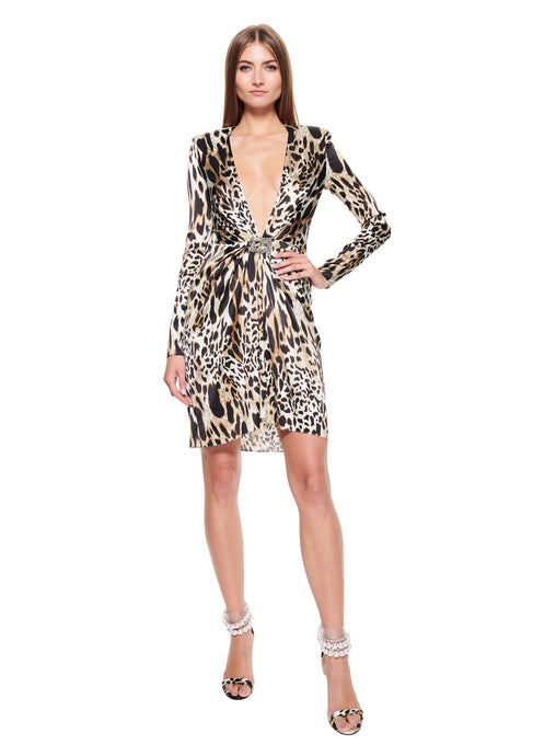 Animal print short dress