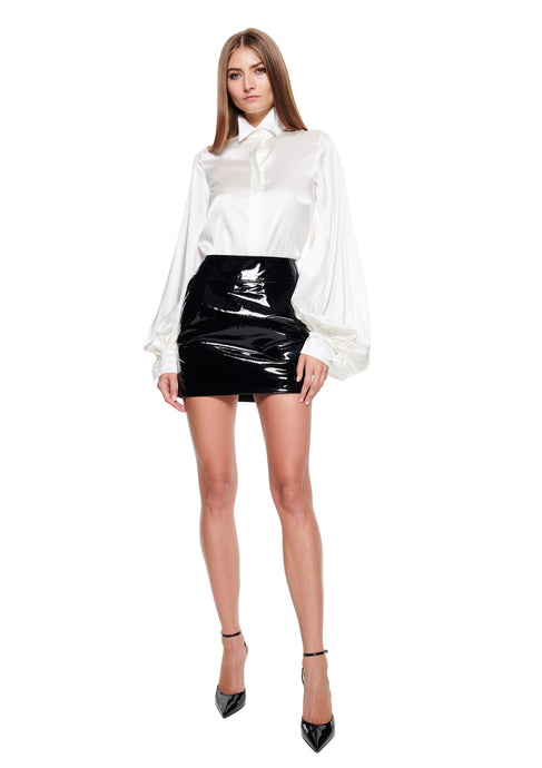 High-rise mini skirt